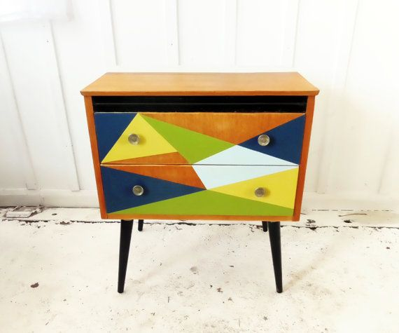 Vintage Chest of Drawers Petite Mid Century by TheVintagewareStore