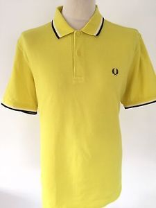FRED PERRY Mens YELLOW Polo Shirt Size XL | eBay