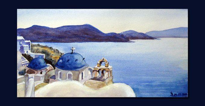 Watercolor by Joanna Lazuchiewicz from class with Geoff Kersey on ArtTutor.com