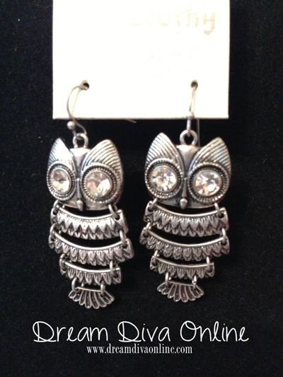 Owl Earrings in Silver owls