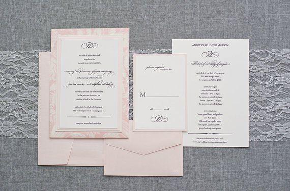 Blush And Ivory Wedding Invitations: 17 Best Images About Blush And Ivory Wedding On Pinterest