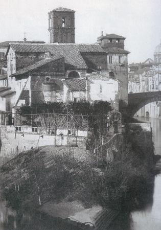 "Ettore Roesler Franz: ""Isola Tiberina"" c.c 1880."