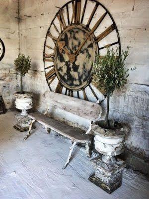 gigantic rusty old clock