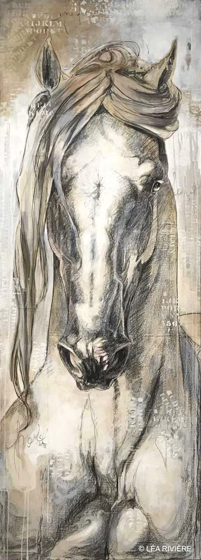 84x30 Divinity (213x76cm) disponible à la Galerie Colette Richelieu - Montréal