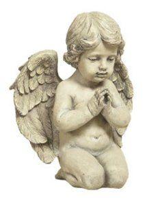 Sitting Angel Graveyard Memorial Statue.