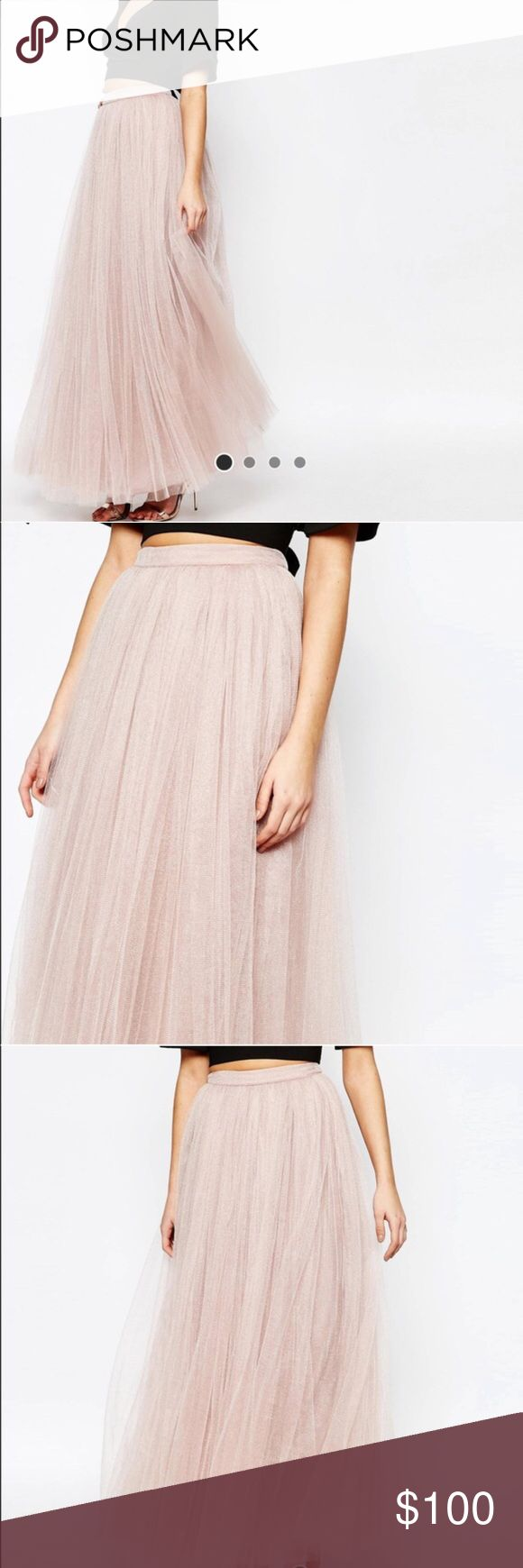 Little mistress maxi tulle skirt New with tags, price is firm uk6/us2. ASOS Skirts Maxi