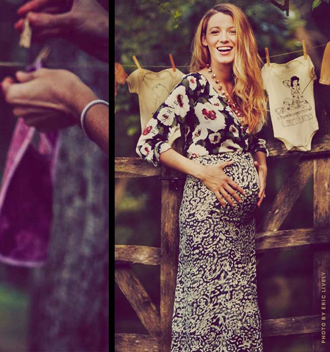 Blake Lively Pregnant - Blake Lively and Ryan Reynolds Expecting a Baby - Elle