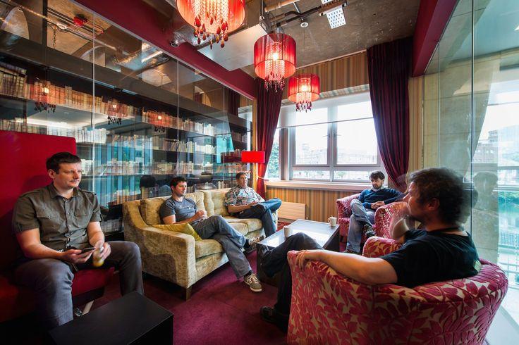 Google Campus Dublin | 1GC - Informal Meeting Area - Floor Identity: Irish Literature #GoogleDublin, #Office, #WallGraphics