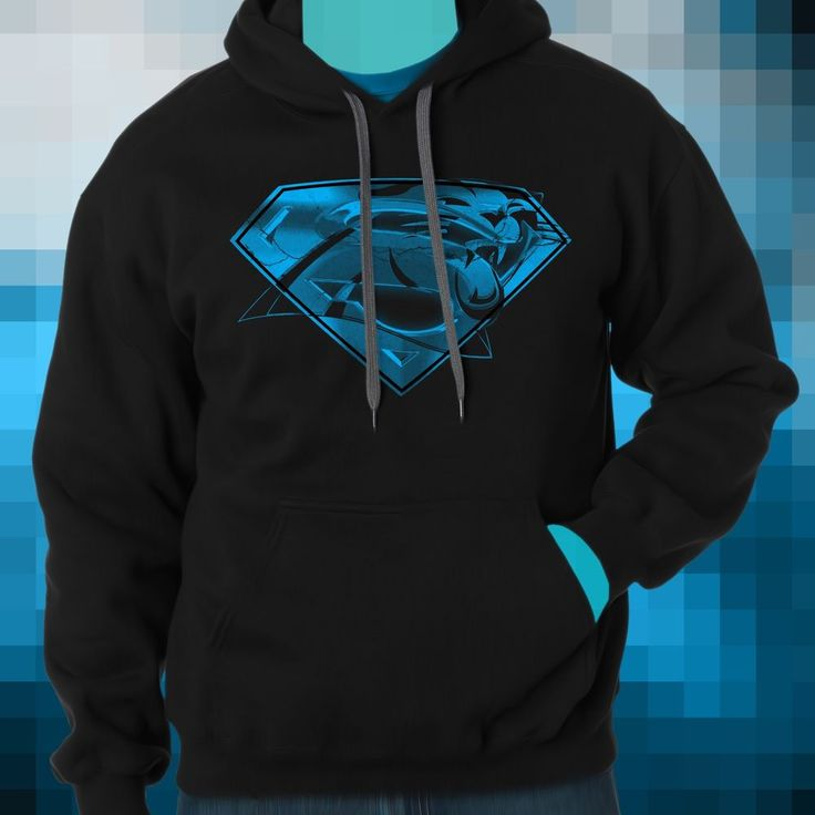Carolina Pathers Cam Netwon Superman Logo Black Hoodie from $41.99