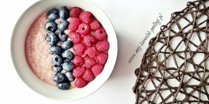 Zdrowe śniadanie- mus malinowy