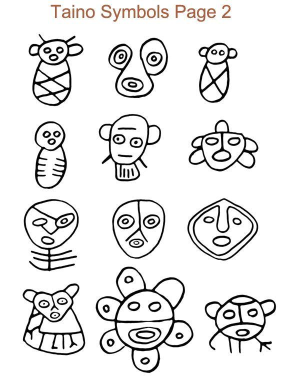 Ancient Taino Symbols | ARQUEO-ILOGICA | Pinterest | Taino ...