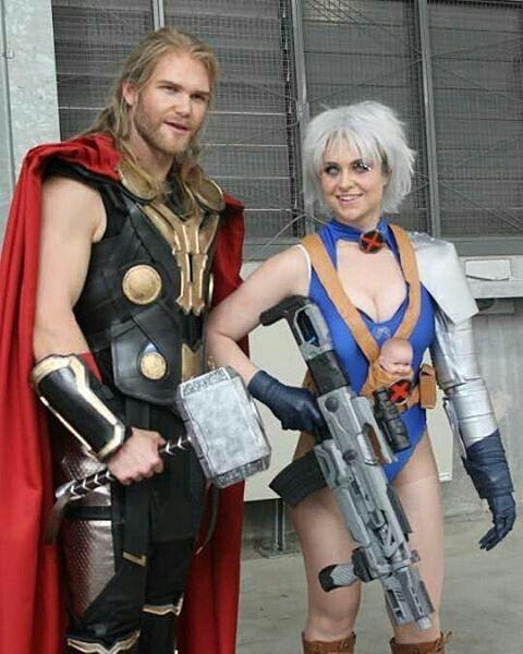Cable: @keighty.kate.cosplay  Thor: @thorofoz _________________________ #thor…