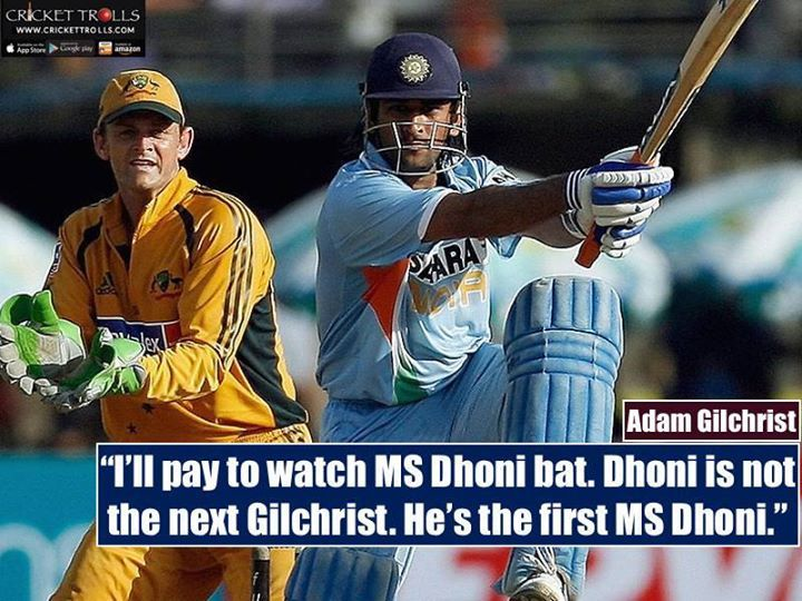 Adam Gilchrist about MS Dhoni  For more cricket fun click: http://ift.tt/2gY9BIZ - http://ift.tt/1ZZ3e4d