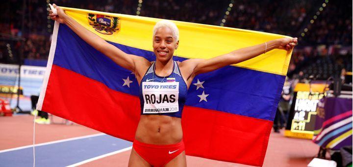 Yulimar Rojas gana oro en triple salto de Mundial en pista cubierta -  (Reuters) – La venezolana Yulimar Rojas sumó el sábado un nuevo galardón a su carrera al quedarse con el título en la prueba de triple salto del Mundial de atletismo en pista cubierta que se celebra en Birmingham.  Rojas, medalla de plata en los Juegos Olímpicos de Río 2016, se subió a lo ... - https://notiespartano.com/2018/03/03/yulimar-rojas-gana-oro-triple-salto-mundial-pista-cubierta/