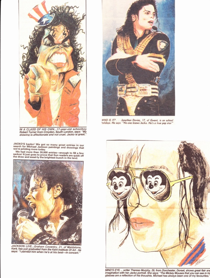 The sun newspaper ran a drawing competition around july 1992 in connection with the dangerous tour's uk leg. No more information available yet! But this is impressing!