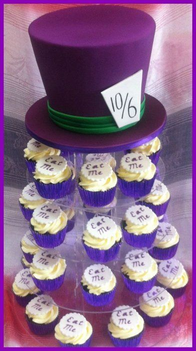 Madhatter Cake And Cupcakes Mad Hatter Wedding Alice In