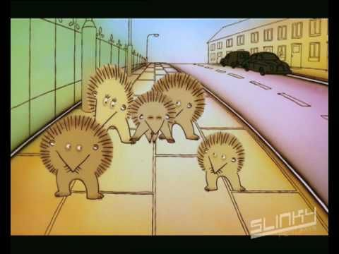 "So cute! And the message never gets old. Hedgehogs Road Safety Campaign ""Stayin Alive"" - Stop, Look, Listen Live"