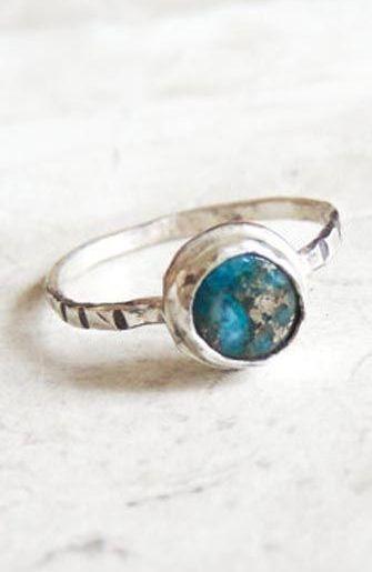 Blue Jasper Sterling Silver Ring
