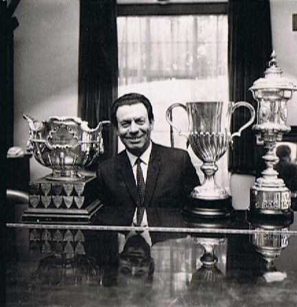 (William) Ivor Evans with the three Eisteddfod Choral Cups