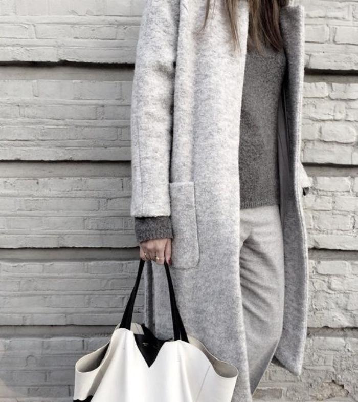 Manteau femme laine bouillie rouge
