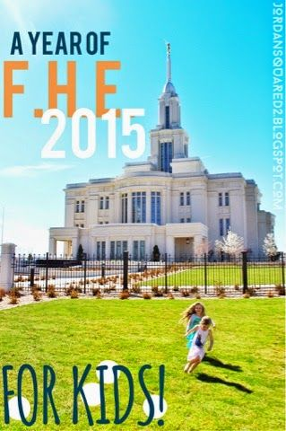 Book of Mormon Family Home Evenings - WITH KIDS! a year of fhe 2015 starting to post fhe blogs mom blog lds family home evenings