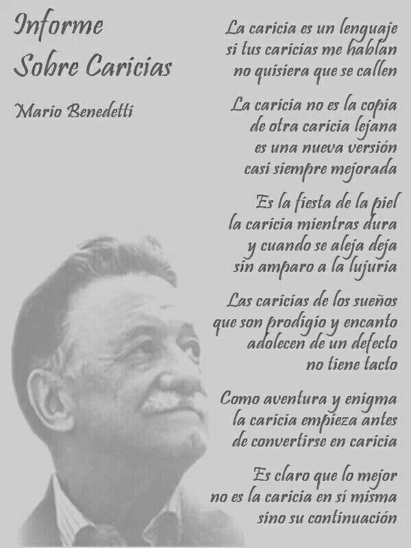 Informe sobre caricias. Mario Benedetti.
