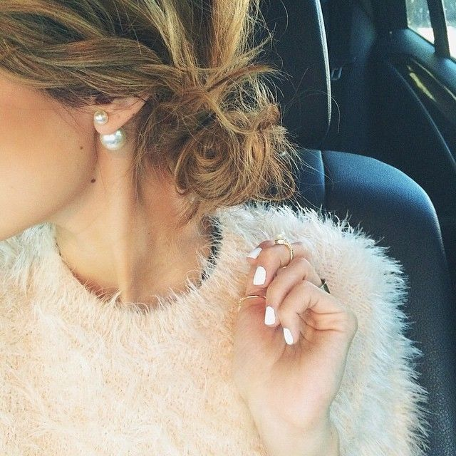 Double Sided Earrings ILY COUTURE styled by: @hellofashionblog