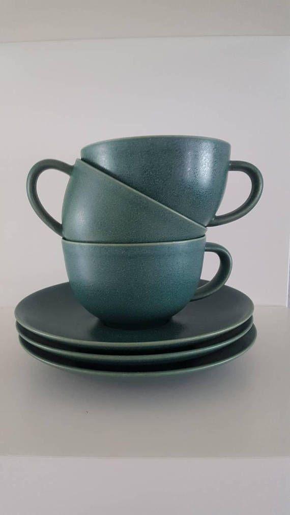 Arabia 24u Set van 3 koffie thee kopjes en schoteltjes Design