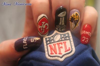 Super Bowl Nails