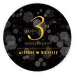 Elegant 3rd Leather Wedding Anniversary Classic Round Sticker #weddinginspiration #wedding #weddinginvitions #weddingideas #bride