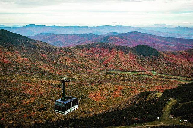 Looking to enjoy some beautiful fall foliage in northern Vermont? If so, it'll be tough to top the amazing colorful views from the tram at Jay Peak Resort!