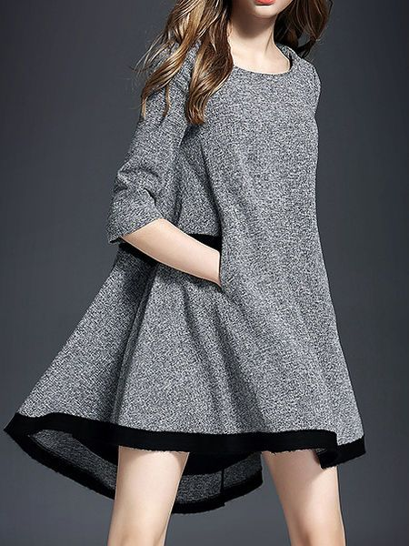 Pockets Asymmetrical Mini Dress STYLEWE
