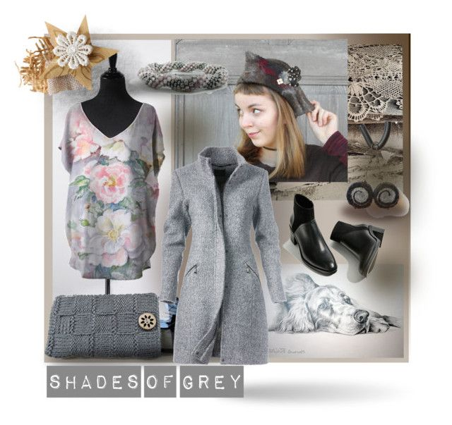 Shades of grey by canisartstudio on Polyvore featuring moda, Cluny, pastel, gray, warmtaupe and sharkskin