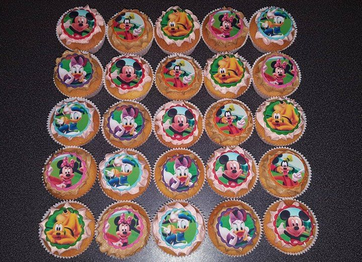 Mickey Mouse clubhuis cupcakes
