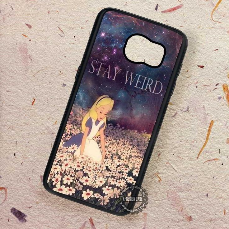 Alice in Wonderland Flowers Night - Samsung Galaxy S7 S6 S5 Note 7 Cases & Covers