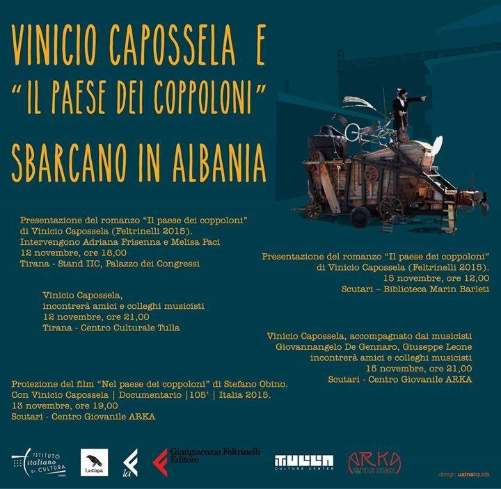 VINICIO CAPOSSELA il 12 13 e 15 novembre in #Albania - http://on.far.al/1WZy2Cv