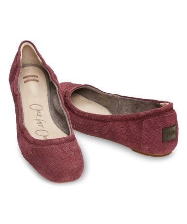 Another great find on #zulily! Wine Snake Classic Suede  Ballet Flat for martyrs days and because RED. #zulilyfinds
