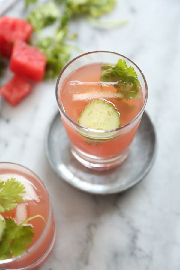 Watermelon-Cucumber Kombucha Coolers (Tequila Optional)
