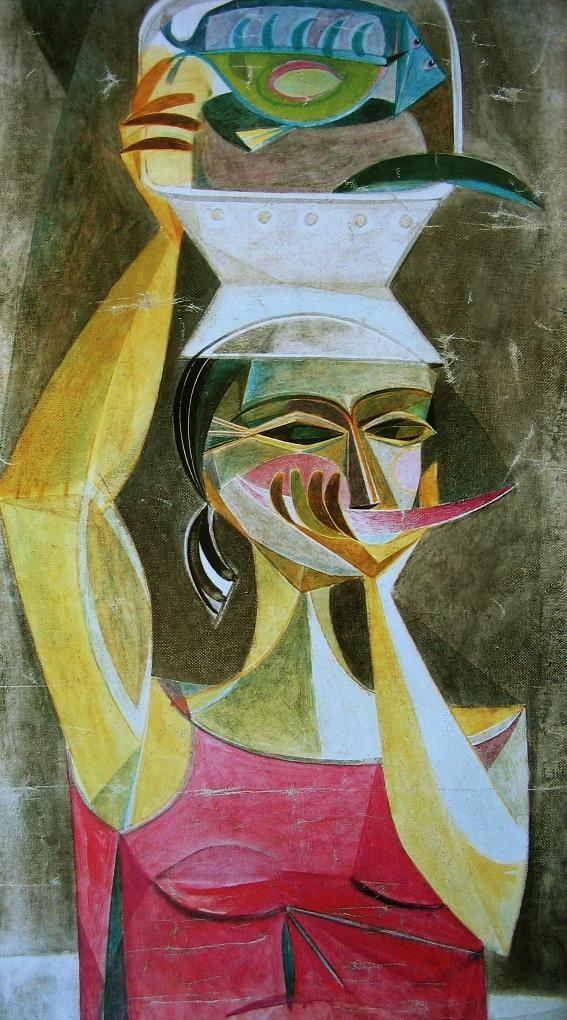 Alejandro Obregón, Mujer con pez, 1952