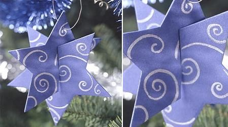 Christmas Stars with paper and cardboard rolls-2 - 04/10 Recycled-Homemade Christmas Ornaments
