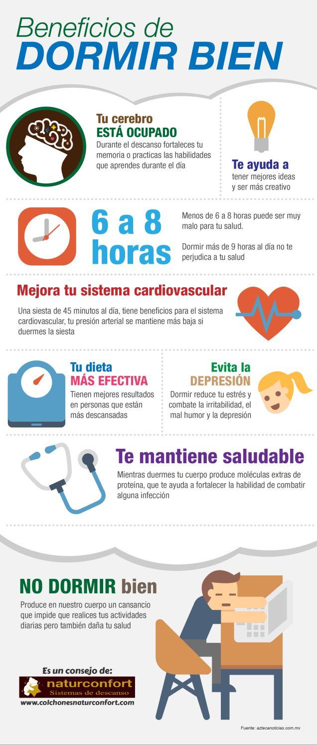 Beneficios de dormir bien #infografia #infographic #health