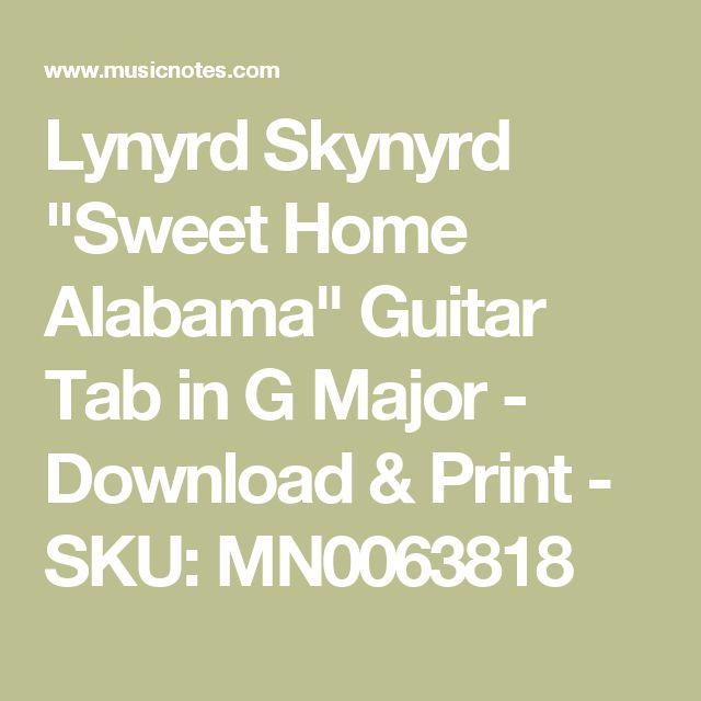 How To Play Sweet Home Alabama On Guitar Tab