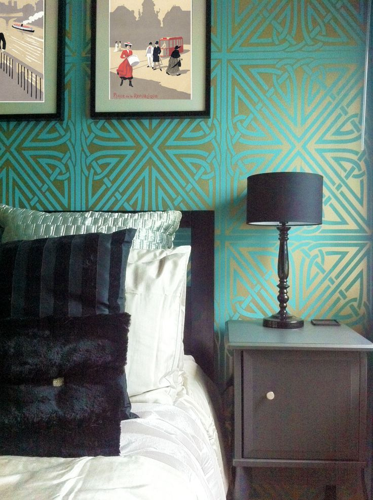 Modern Deco style - great colours and tones of metallics