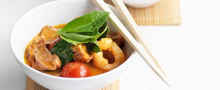 Thai Red Duck Curry with Lychees recipe, brought to you by MiNDFOOD.