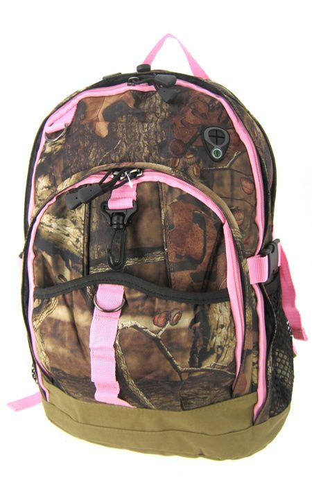 Pink Camouflage mossy oak back pack... WANT PLEASE!!