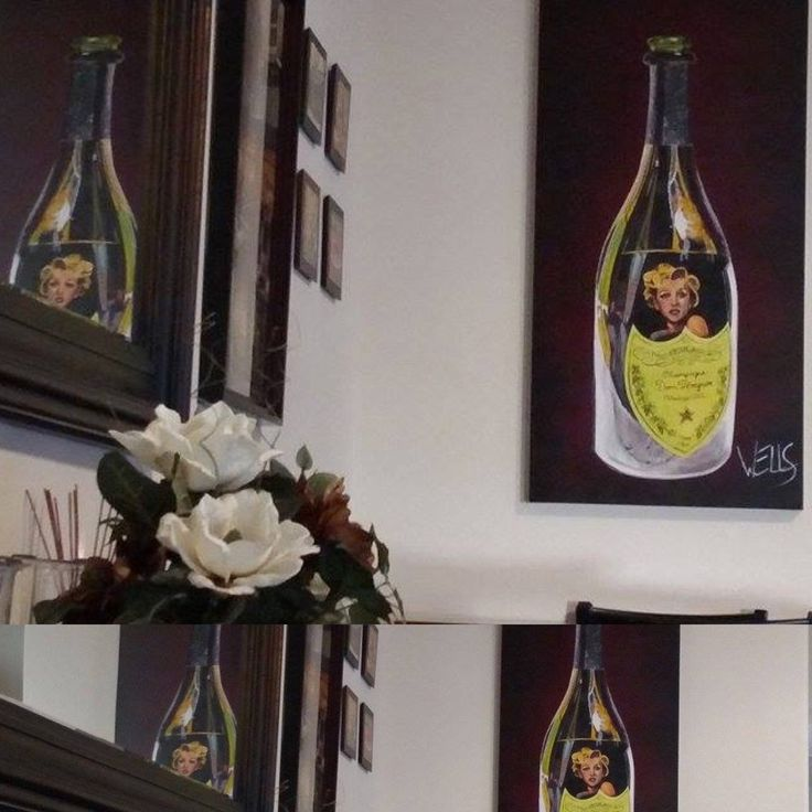 Wine art by Stacey Wells Marilyn Monroe
