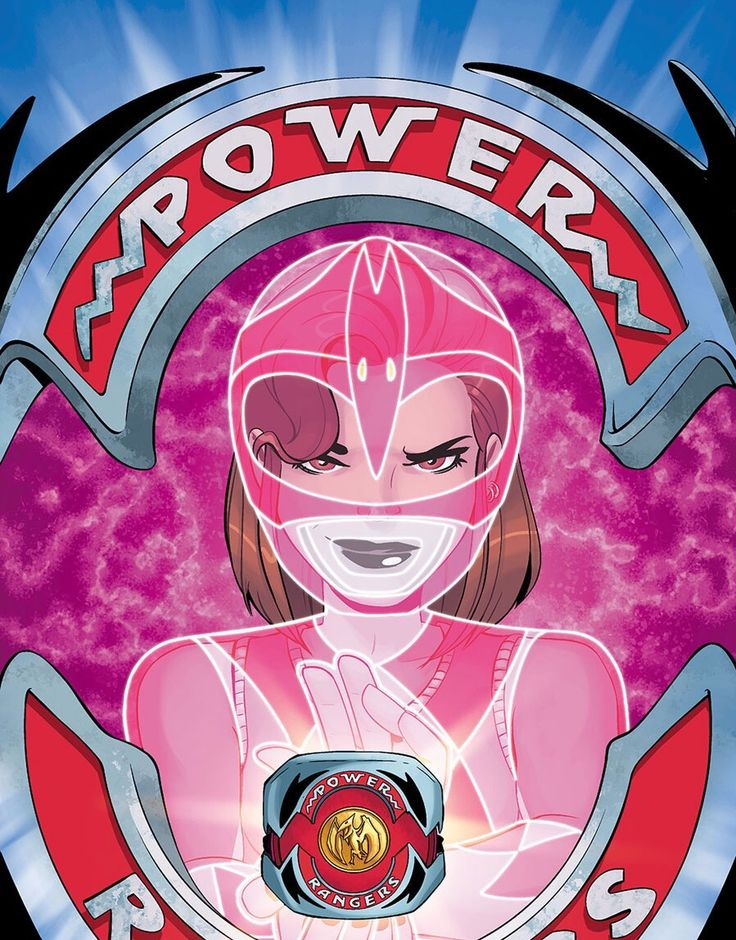 Kimberly transforming into The Pink Ranger