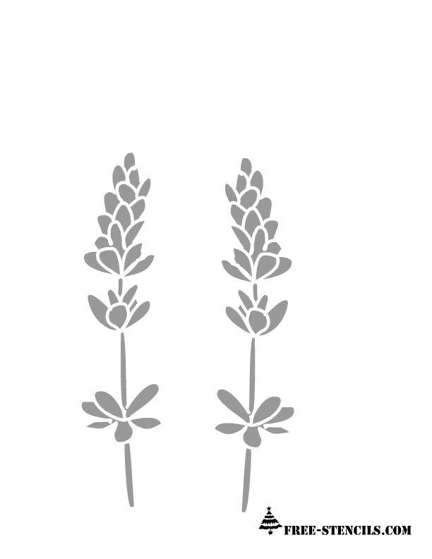 free printable lavender flowers stencil   Free stencils ...