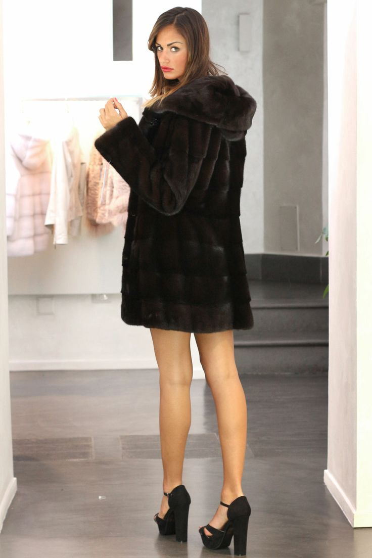 Blackglama Mink Fur Hooded Jacket