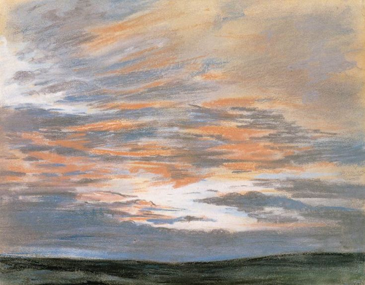 Study of the Sky at Sunset by Eugene Delacroix, 1849